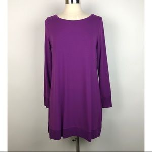Eileen Fisher Long Sleeve Purple Tunic